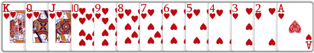 Solitaire value of cards