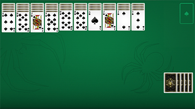 Spider Solitaire Layout
